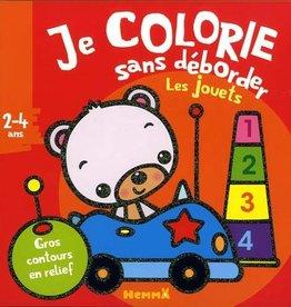HEMMA Je colorie sans déborder: Les jouets