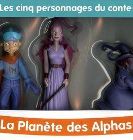 Récréalire Coffret - Cinq figurines  La planète des Alphas