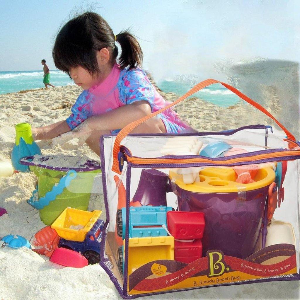 B. Active - Sac de plage mauve et accessoires