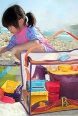 B.Summer  - Sac de plage mauve et accessoires