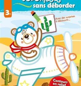 HEMMA Mes coloriages sans déborder: ours aviateur