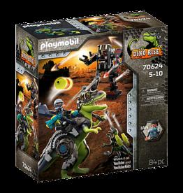 Playmobil 70624 Tyrannosaure et robot géant