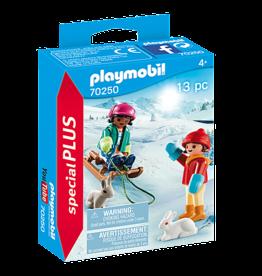 Playmobil 70250  Enfants avec luge