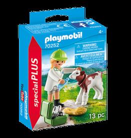 Playmobil 70252  Vétérinaire et veau