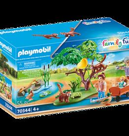 Playmobil 70344 Panda roux avec enfants