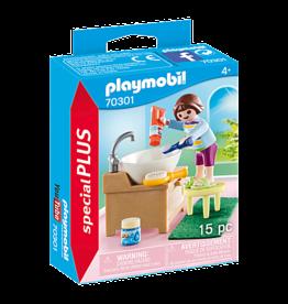 Playmobil 70301 Enfant avec lavabo