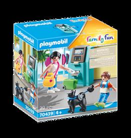 Playmobil 70439 Vacanciers et distributeur automatique