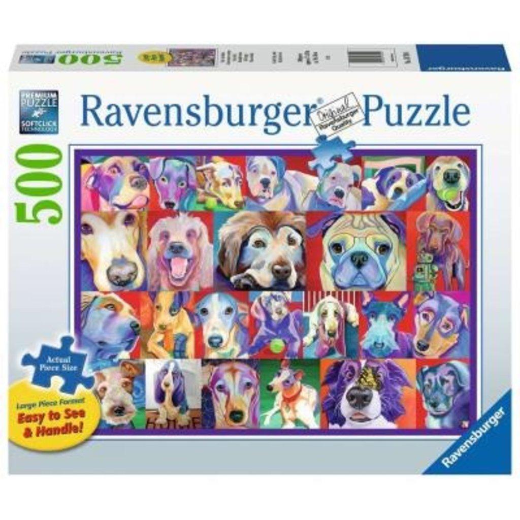 Ravensburger Chiens hauts en couleur 500pcs Format Large