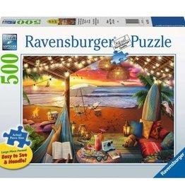 Ravensburger Coucher de soleil/plage 500pcs Format Large