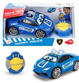 Dickie Happy Auto de Police téléguidée 27 cm