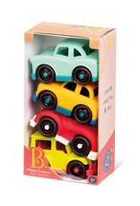 B.Baby B.Toys - Happy Cruisers 4 Mini véhicules