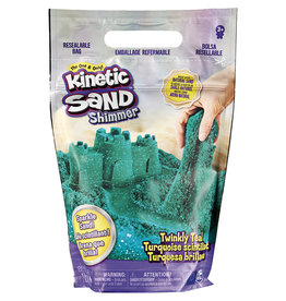 Spin Master Kinetic Sand - Sac de sable Shimmer 2lbs Turquoise