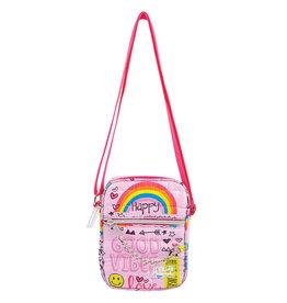 Fashion Angels Mini sac à bandoulière avec message imprimé