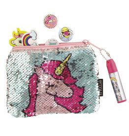Fashion Angels Mini pochette sequin licorne avec baume à lèvres