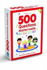 MEGA EDITIONS 500 questions maternelle: un livre pour lire, jouer et apprendre