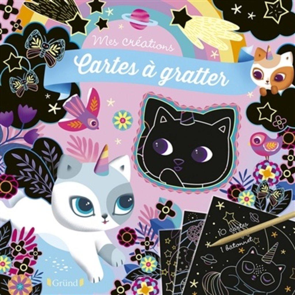 GRUND Cartes à gratter : Chatons magiques