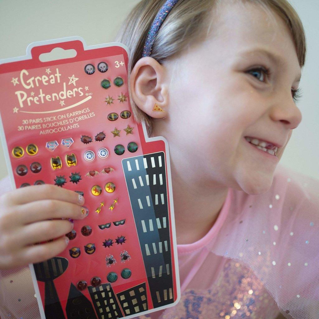 Creative Education Boucle d'oreille  autocollantes super-héroes