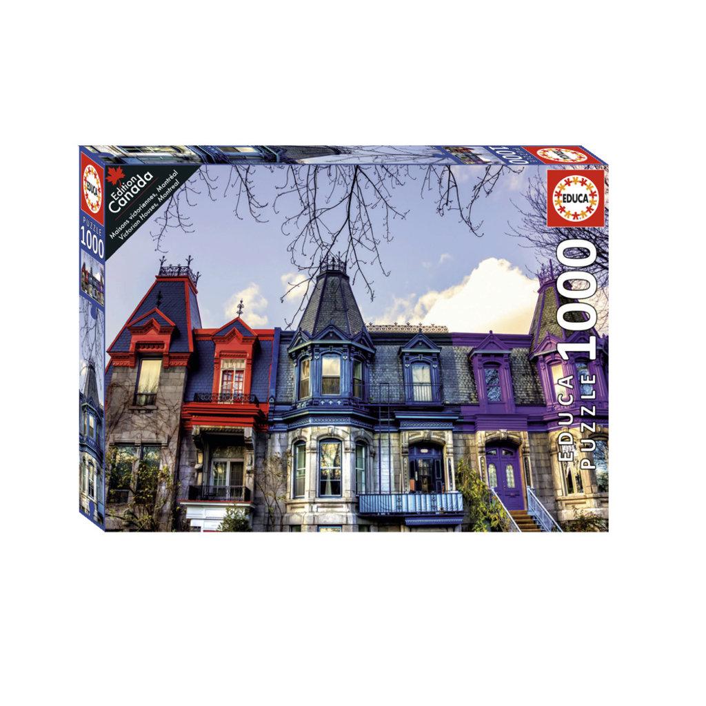 Educa Casse-tête 1000 pièces -Maisons victoriennes, Montréal
