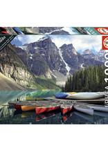 Educa Casse-tête 1000 pièces -Canoës sur le Lac Moraine, Banff, Alberta