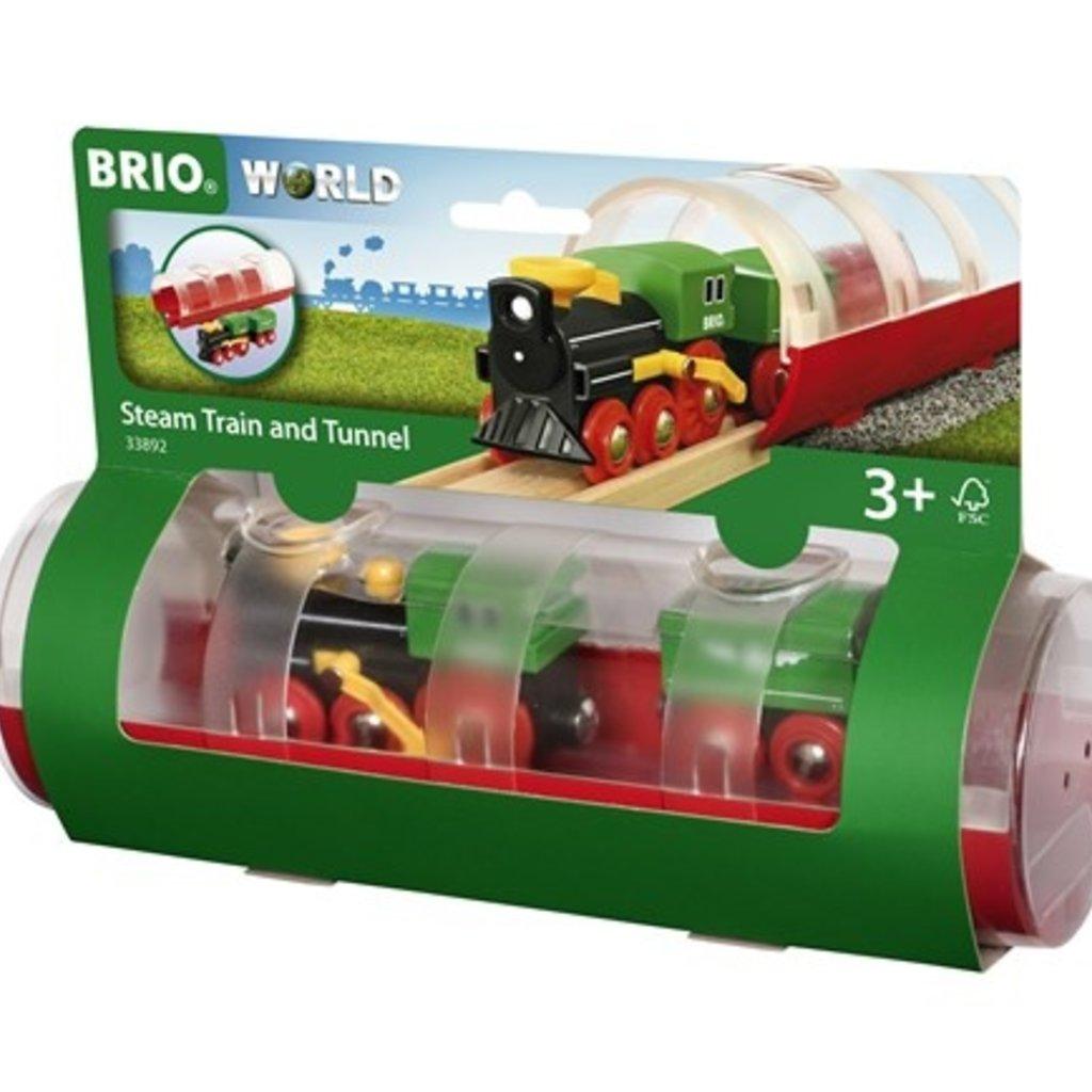 Brio Train à vapeur et tunnel