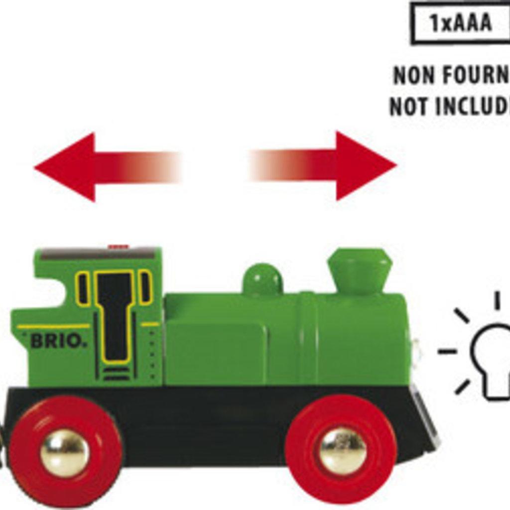 Brio Locomotive à pile bidirectionnelle verte