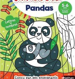 NATHAN Coloriages malins : Pandas: lettres et nombres, GS
