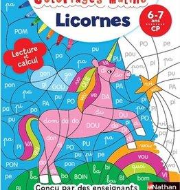 NATHAN Licornes: lecture et calcul, CP