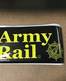 ARMY RAIL STICKER