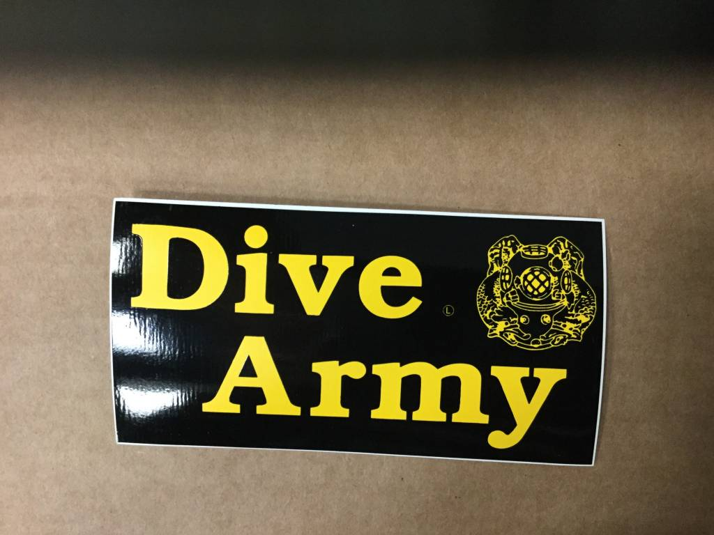 CARDWELL PRINTING DIVE ARMY STICKER