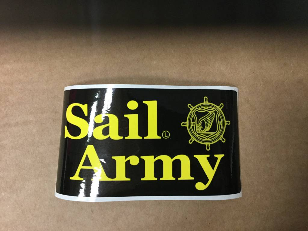 CARDWELL PRINTING SAIL ARMY STICKER