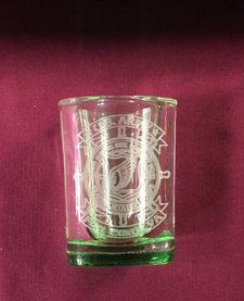 SHOT GLASS SQ GREEN
