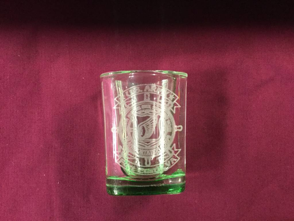 BICAST, INC. SHOT GLASS SQ GREEN