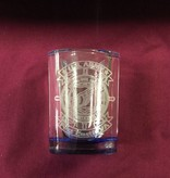 BICAST, INC. SHOT GLASS SQ BLUE