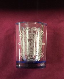 SHOT GLASS SQ BLUE