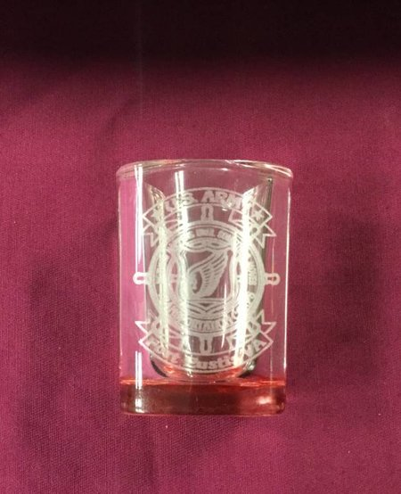 SHOT GLASS SQ RED