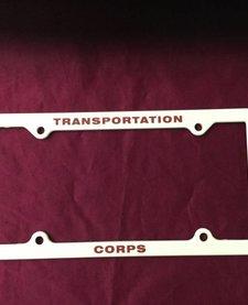 TRANSPORTATION CORPS LICENSE PLATE HOLDER