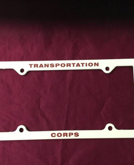 TRANSPORTATION CORPS LICENSE PLATE HOLDER