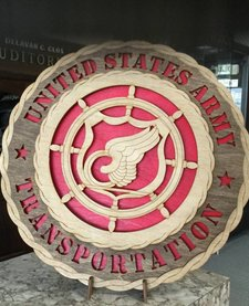 TRANSPORTATION PLAQUE LARGE