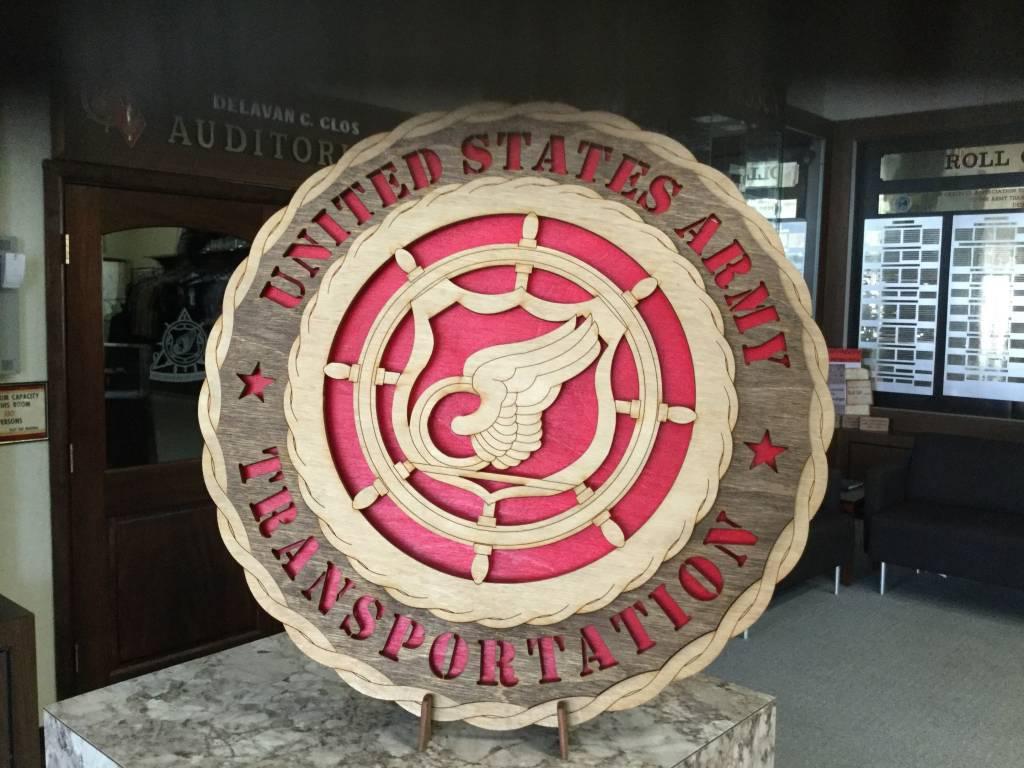CUSTOM LASER ACCENTS TRANSPORTATION PLAQUE LARGE
