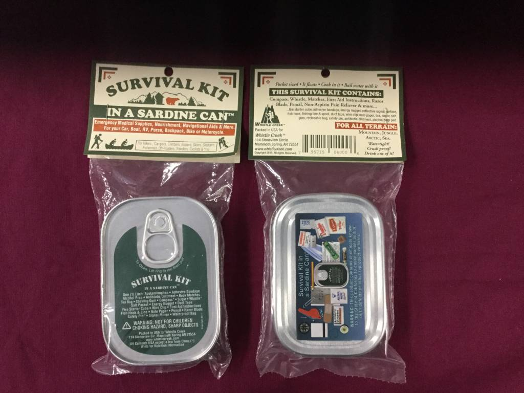 WHISTLE CREEK SURVIVAL KIT IN A CAN