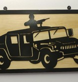YOU PAINT METAL ART HIGH MOBILE MULTIPURPOSE WHEELED VEHICLE (HMMWV- M1025)