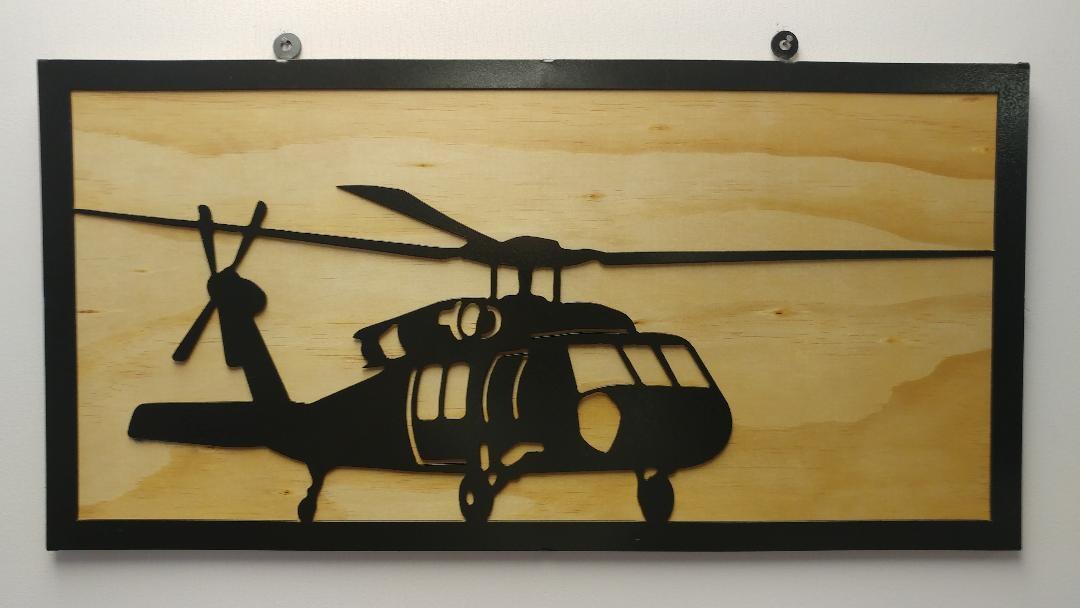 YOU PAINT METAL ART BLACKHAWK  (UH-60)
