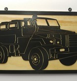 YOU PAINT METAL ART MINE-RESISTANT AMBUSH PROTECTED (MRAP-M1266A1)