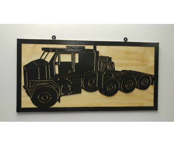 YOU PAINT METAL ART HEAVY EQUIPMENT TRANSPORT SYSTEM (HETS-M1070)