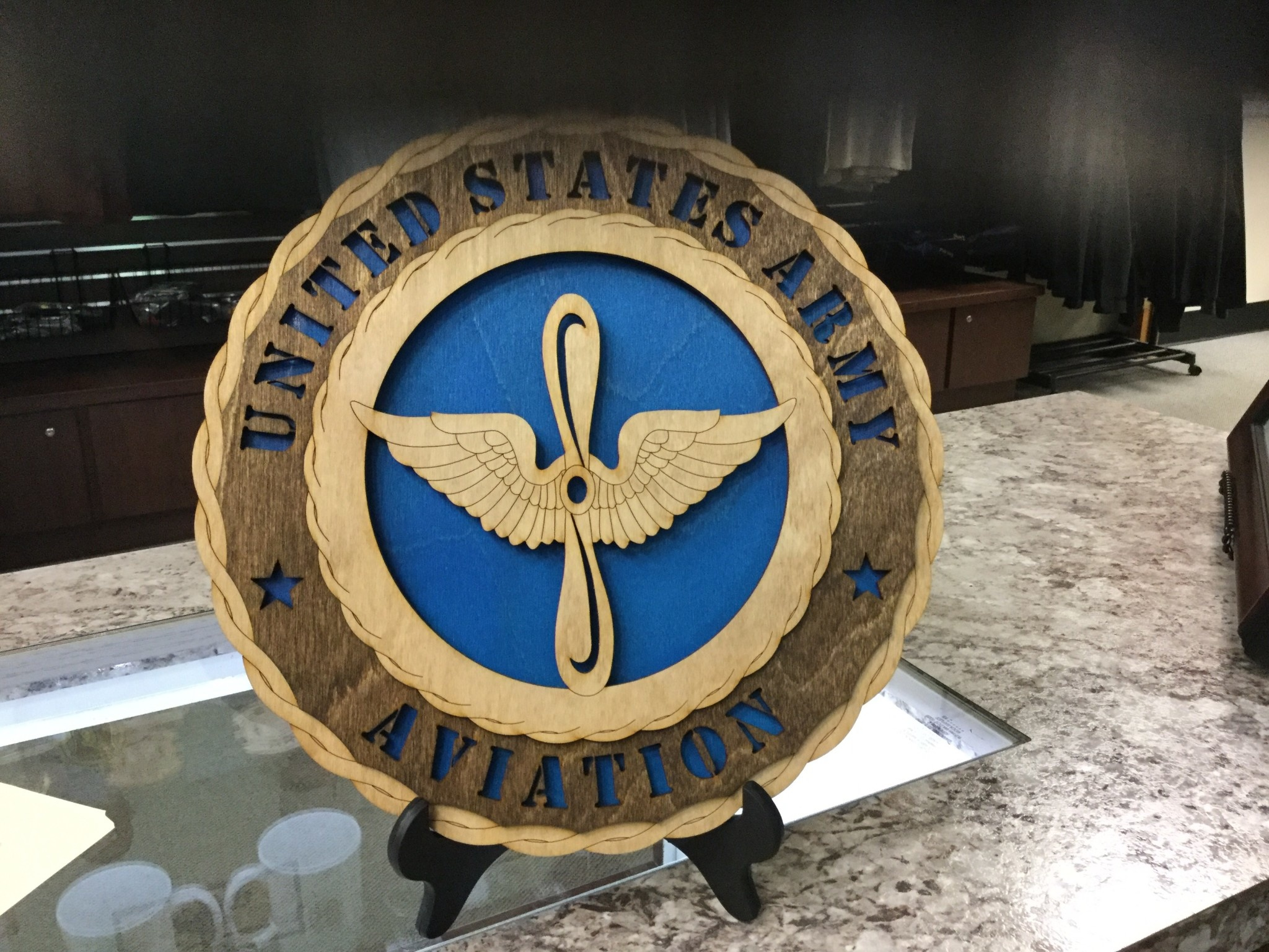 CUSTOM LASER ACCENTS AVIATION BRANCH INSIGNIA