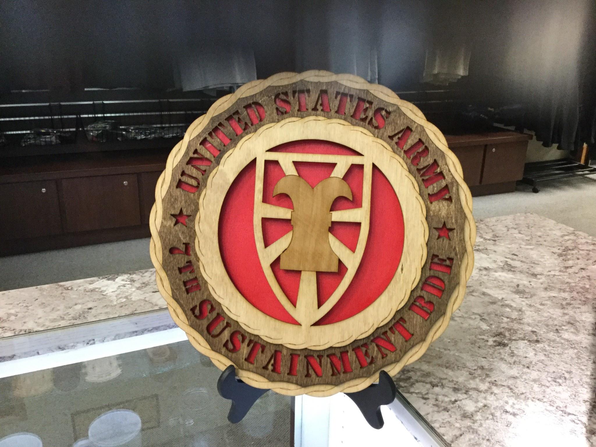 CUSTOM LASER ACCENTS 7th TRANSPORTATION BRIGADE