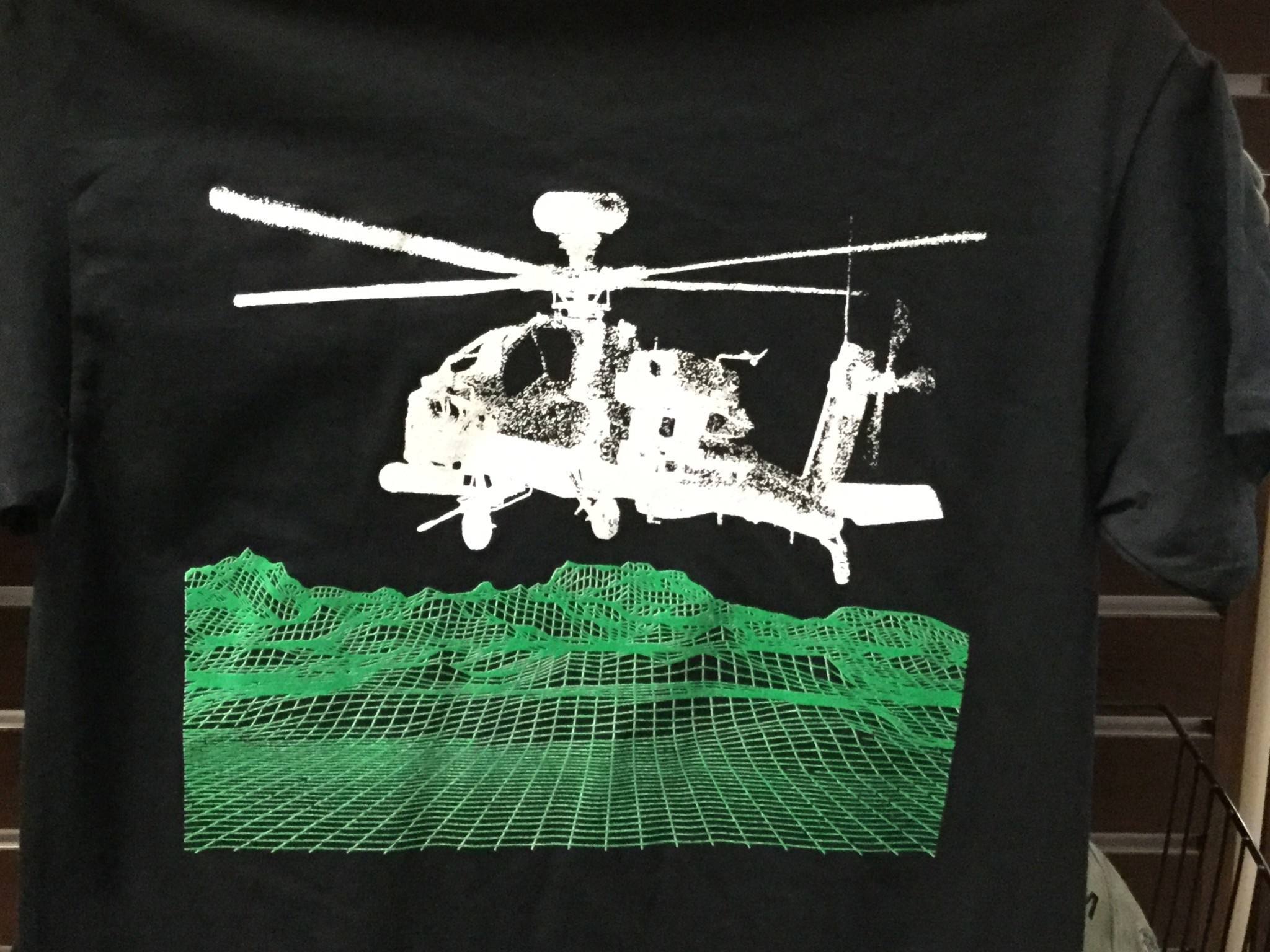CARDWELL PRINTING AH64 APACHE LONGBOW T-SHIRT LARGE