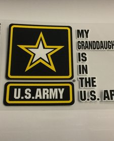 MY GRANDDAUGHTER IS IN ARMY W/STAR