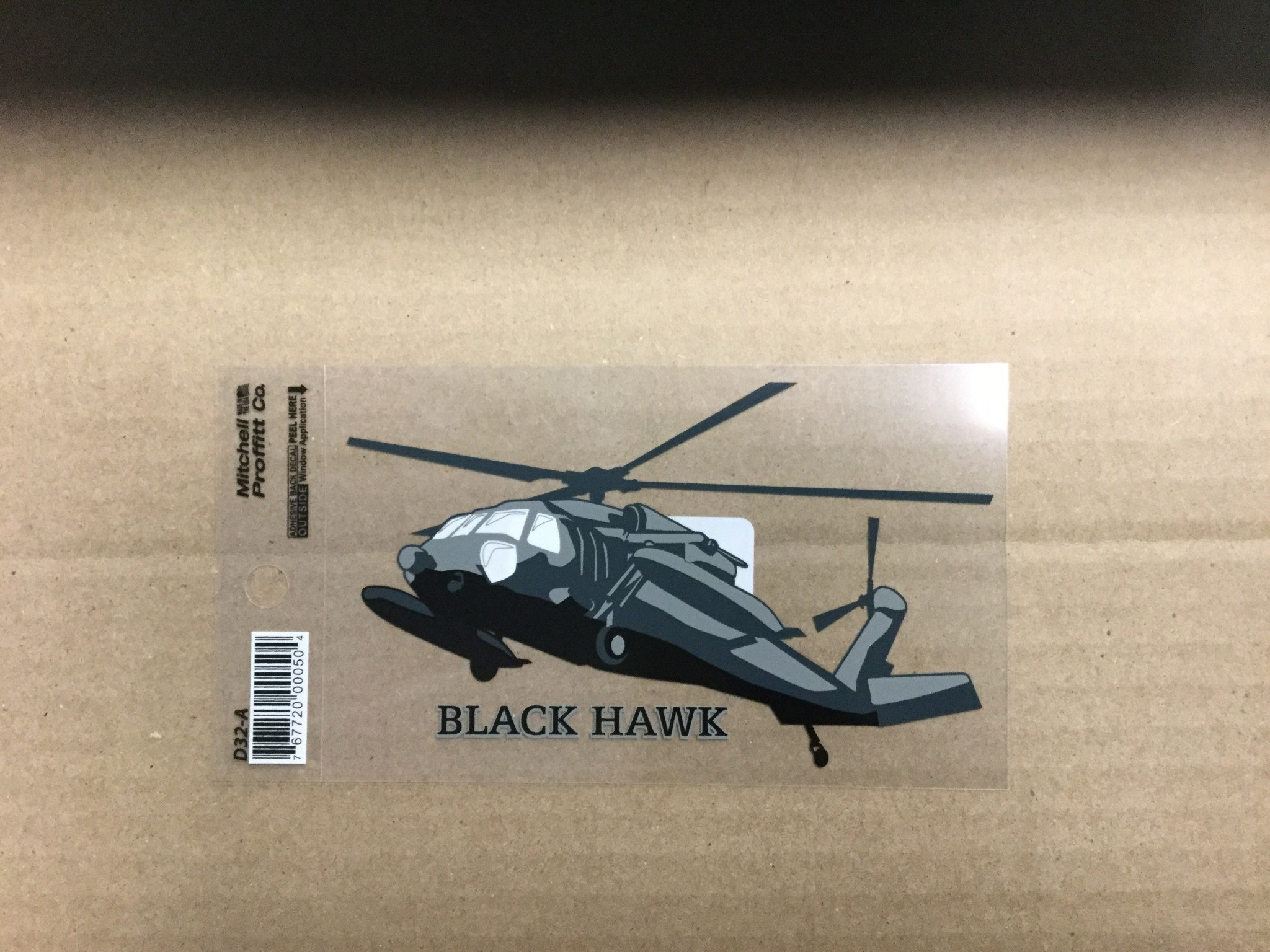 MITCH PROFFITT BLACKHAWK DECAL