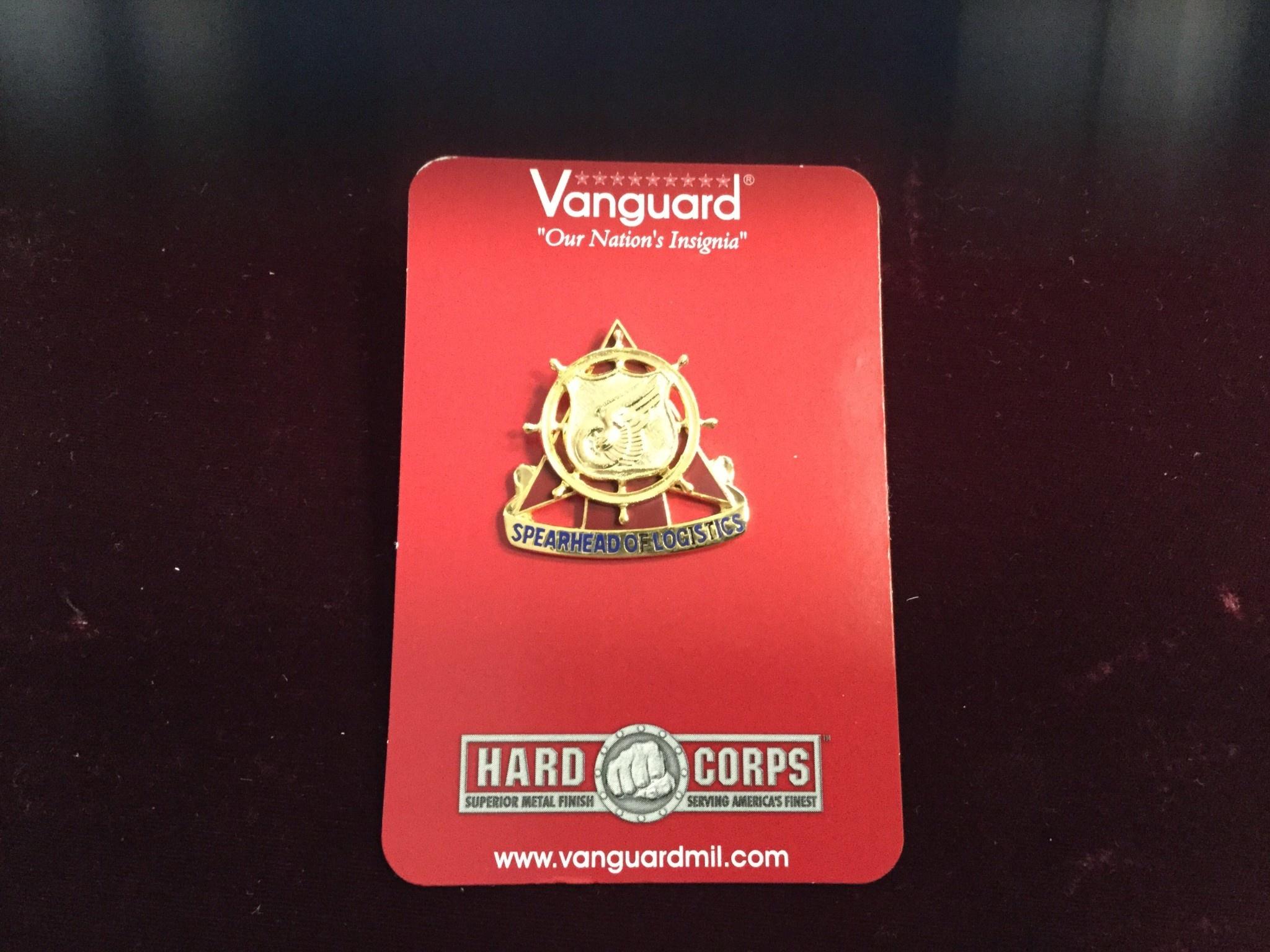 VANGUARD INDUSTRIES EAST, INC. LAPEL PIN, REGT BIG